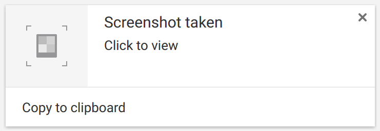 "Chrome OS says ""Screenshot taken"